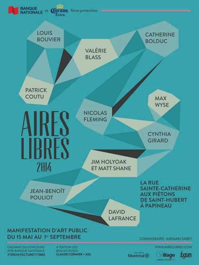 AIRES LIBRES 2014 manifestation d'art public du 15 mai au 1er septembre